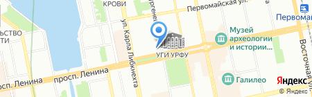 Мандарин на карте Екатеринбурга