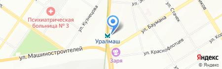 Надэль на карте Екатеринбурга