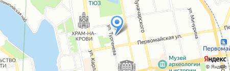 Кругами на карте Екатеринбурга