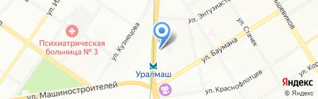 Евромикс на карте Екатеринбурга