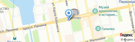 Покровский на карте Екатеринбурга