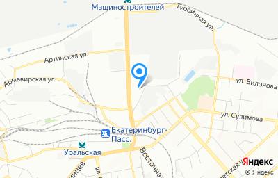 Местоположение на карте пункта техосмотра по адресу г Екатеринбург, ул Кислородная, стр 7