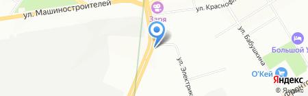Профессиональный мир на карте Екатеринбурга