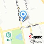 Жилой квартал на карте Екатеринбурга