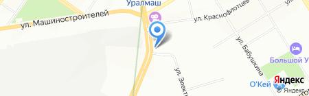 Аптечный пункт на карте Екатеринбурга