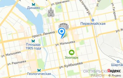 Местоположение на карте пункта техосмотра по адресу г Екатеринбург, ул Красноармейская, стр 10
