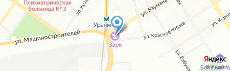 Золотой берег на карте Екатеринбурга