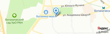 Приор-М на карте Екатеринбурга