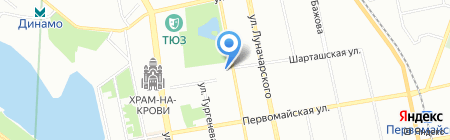Прокофий на карте Екатеринбурга
