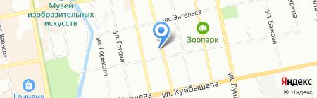 Маверик на карте Екатеринбурга