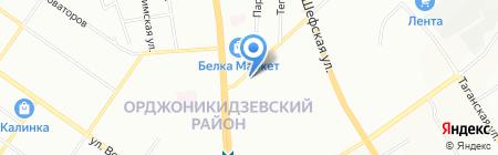 Золотая подкова на карте Екатеринбурга