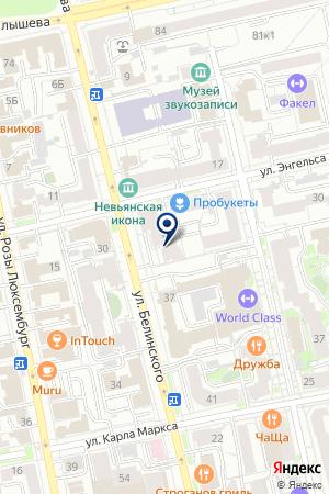 Росгосстрах Банк на карте Екатеринбурга