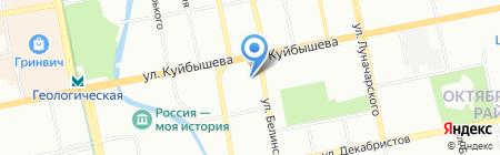 Атриум Палас Отель на карте Екатеринбурга