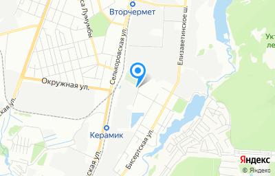 Местоположение на карте пункта техосмотра по адресу г Екатеринбург, ул Мартовская, стр 8