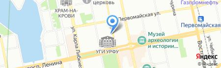 Огаста на карте Екатеринбурга
