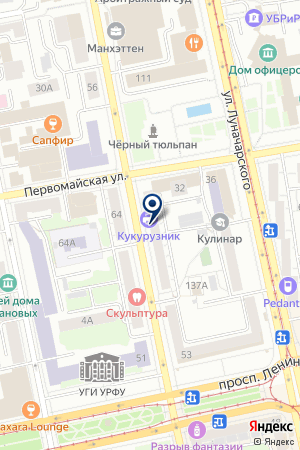 Зеленые на карте Екатеринбурга