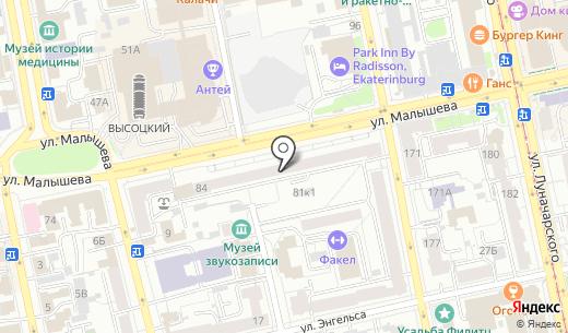 Приор-М. Схема проезда в Екатеринбурге