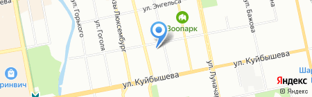 Новосёл на карте Екатеринбурга