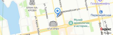 Екатеринбургская детская театральная школа на карте Екатеринбурга