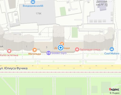 Управляющая компания «Территория-Запад» на карте Екатеринбурга
