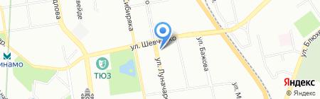 Кантри на карте Екатеринбурга