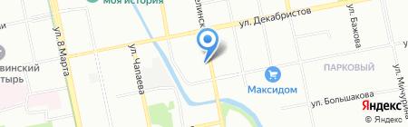Чусовское озеро на карте Екатеринбурга