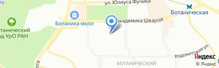 Спутник на карте Екатеринбурга