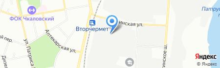 Атеси на карте Екатеринбурга