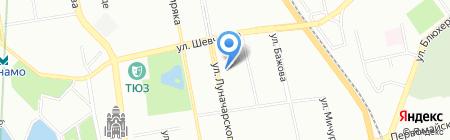 Заповедник на карте Екатеринбурга