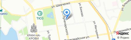 Марионетка на карте Екатеринбурга