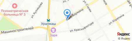 Байкальский рыбный дом на карте Екатеринбурга