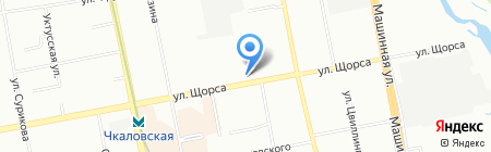 Автомаг на карте Екатеринбурга