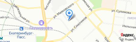 Уралпромжелдортранс на карте Екатеринбурга