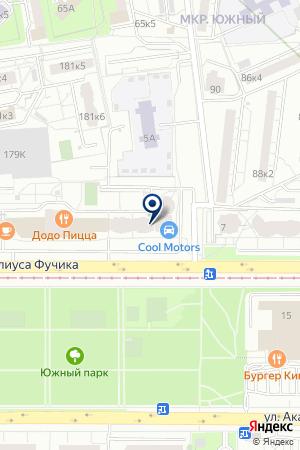 FitCurves на карте Екатеринбурга