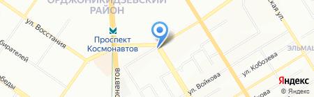 Садовый на карте Екатеринбурга