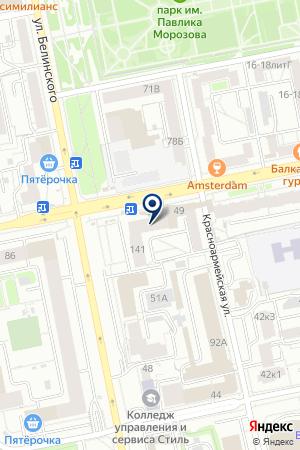 ДНК центр ДТЛ на карте Екатеринбурга