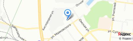 Заря на карте Екатеринбурга