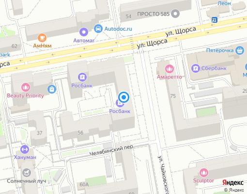 Товарищество собственников жилья «Чайковское» на карте Екатеринбурга