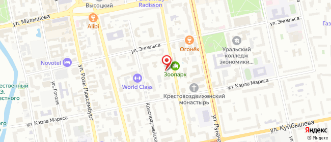 Карта расположения пункта доставки Lamoda/Pick-up в городе Екатеринбург