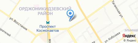 Казанова 69 на карте Екатеринбурга