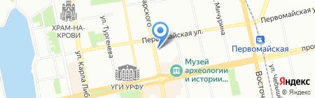 НИКС на карте Екатеринбурга