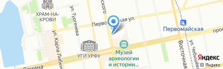 А-недвижимость на карте Екатеринбурга
