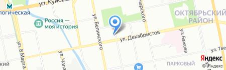 Малыш на карте Екатеринбурга