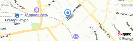 Пионерская на карте Екатеринбурга