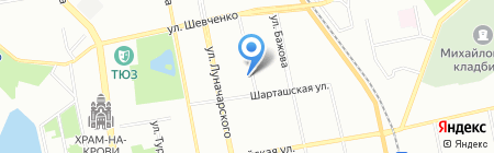 Prof Glass на карте Екатеринбурга