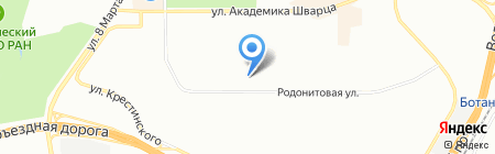 Лдо-АВК на карте Екатеринбурга