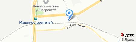 АВС-Урал на карте Екатеринбурга