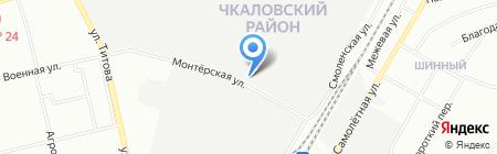 АКЗ-Гидротерм на карте Екатеринбурга