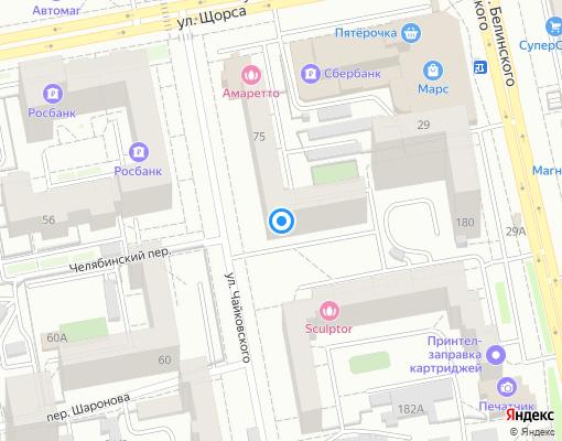 Товарищество собственников жилья «Чайковского 75» на карте Екатеринбурга