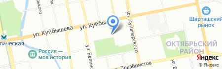 Авто-Вираж на карте Екатеринбурга